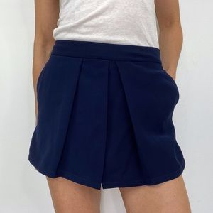 cupcakes & cashmere Navy Blue High Waisted Skorts
